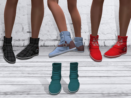 TF: ABC Ankle Sneaker Boots Teal