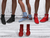 TF: ABC Ankle Sneaker Boots Tartan Red