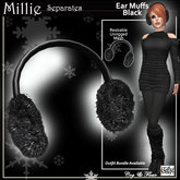 C&F PROMO Millie Separates - Ear Muffs - Black