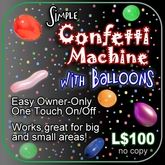 Simple Confetti Machine with Balloons!