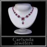 Diamond Ruby Platinum Necklace