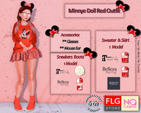 ::FLG No Cabide - Minnye Doll Red Outfit::