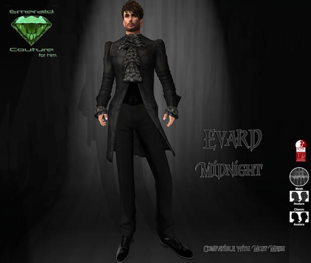 EC Evard Suit Midnight [Mens]