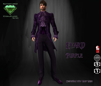 EC Evard Suit Purple [Mens]