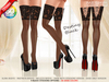 ::MA:: DESTINY BLACK Lace Stocking & Peep Toe Heels - 50 COLOR PACK