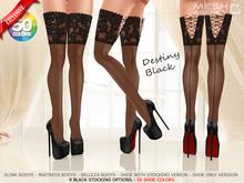 ::MA:: DESTINY BLACK Stocking & He - 50 COLOR PACK V1.0 {Wear}