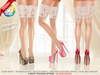 ::MA:: DESTINY WHITE Lace Stocking & Peep Toe Heels - 50 COLOR PACK