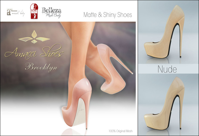 Amacci Shoes - Brooklyn - Nude (Maitreya, Slink, Belleza)