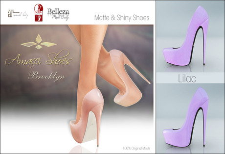 Amacci Shoes - Brooklyn - Lilac (Maitreya, Slink, Belleza)