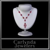 Platinum Diamond Ruby Necklace