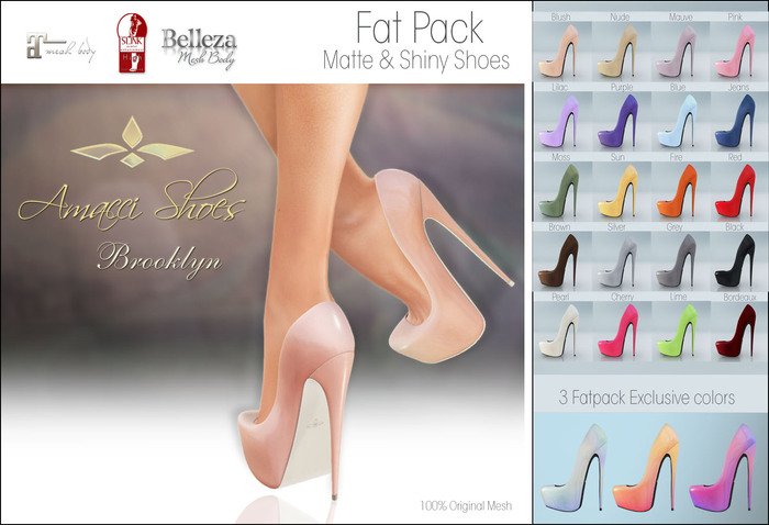 Amacci Shoes - Brooklyn - Fat Pack (Maitreya, Slink, Belleza)