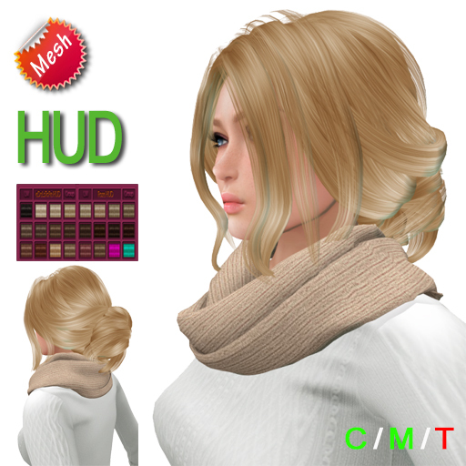 "eeDeLsToRe woman mesh hair "" Hella "" incl 24 color HUD"