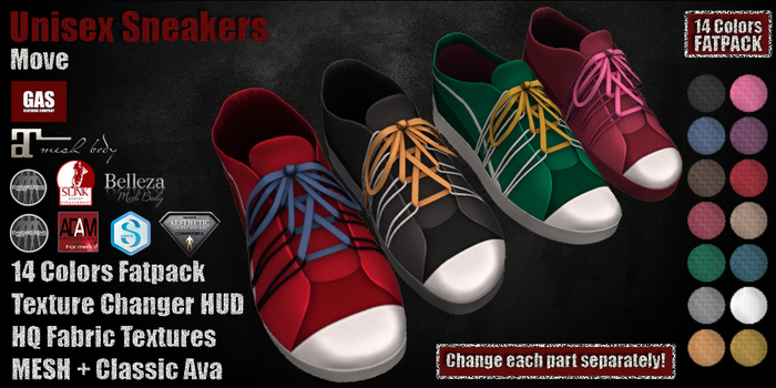 GAS [Unisex Sneaker Move - All 14 Colors w/HUD FATPACK]