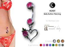 [*K*] Piercing Belly Heart - Maitreya Lara