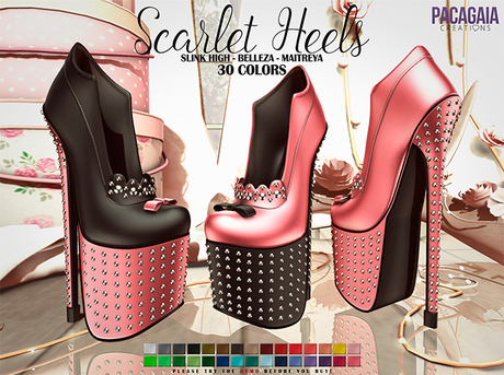 :PC: Scarlet Heels (SLINK HIGH, MAITREYA AND BELLEZA)
