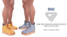 ILLI - [SLink,Signature Gianni,MeshProject Men,Aesthetic,Adam] Brad Work Boots (HUD Driven)