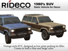 RiDECO - 1980's SUV