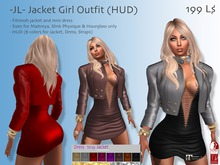-JL- Jacket Girl Outfit (HUD) for Maitreya, Slink Physique & Hourglass