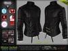 Major Black Male Mens Leather Jacket Coat - Mesh - TMP, Adam, Slink, Aesthetic, Signature - FashionNatic