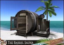 Headhunter - Tiki Barrel sauna & shower set - palm tree - tropical - 64 multianims