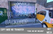 YC Steel Garage  Backdrop