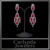 Platinum Ruby Diamond Earrings