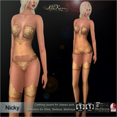 .:FlowerDreams:.Nicky - gold (appliers included)