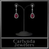 Ruby Diamond Drop Earrings