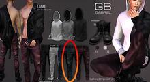 8.::GB:: Color denib pants / Green