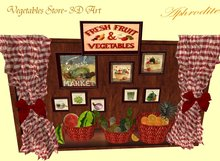 Vegetables store miniature - 3D Art (boxed) TRANSFER