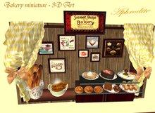 Bakery miniature- 3D Art (boxed) TRANSFER