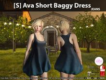 [S] Ava Short Baggy Dress Jeans