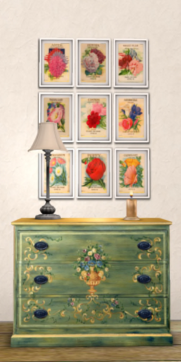 Painted Chest of Drawers Mesh