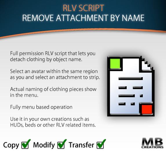 [RLV] Remove Attachment by Name Script
