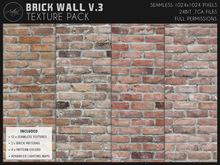 [AC] Seamless Worn Brick Wall V.3 Textures Pack