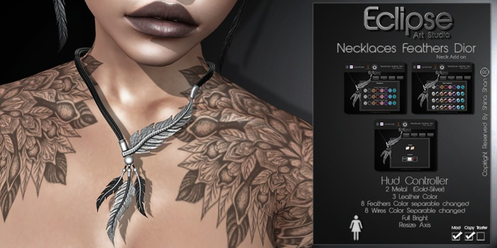.:E.A.Studio:. Necklaces Feather Dior
