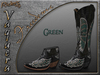 Riders  - Vaquera Boots - Freedom Green - Cowboy / Cowgirl Boots