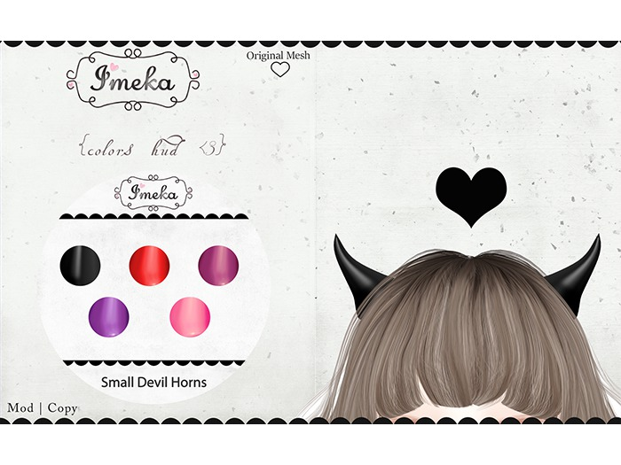 {Imeka} Small Devil Horns