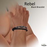 Rebel Black agate rope bracelet