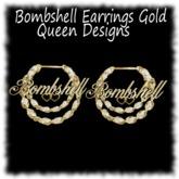 Bombshelll Earrings Gold