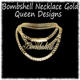 Bombshell Necklace Gold
