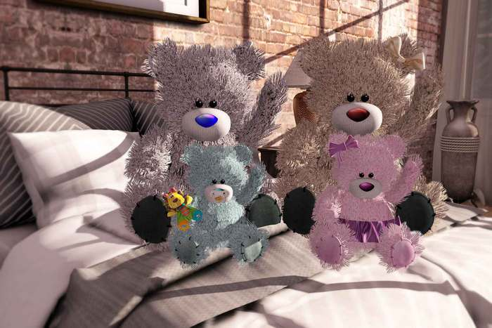 Aphrodite bears family- Special kids or babies nursery room