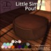 [DDD] Little Simple Pouf