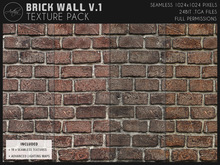 [AC] Seamless Worn Brick Wall Textures V.1