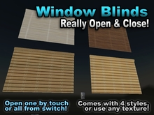 Window Blinds - Really Raise & Lower - Commercial Version for Builders - FULL PERMS