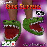 * Snappy Croc Slippers * [ DISCOUNTED ]