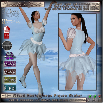 ~JJ~ Fitted Mesh/Omega Figure Skater Outfit