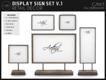 [AC] Mesh Display Sign Set - 6x Models - 1 Li Each
