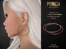 PUNCH / Hoop Earrings {Mesh} Classic Hoops