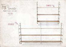 ionic : Dark Wood shelves